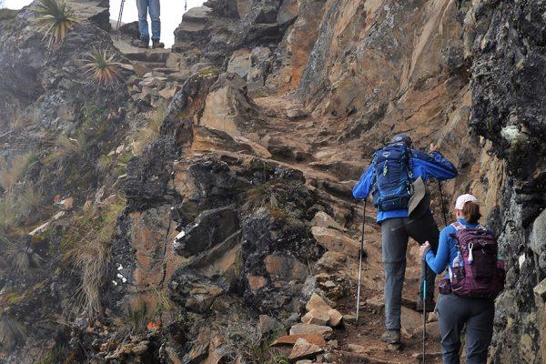 Camino Inca del Abra Victoria hacia Yanama