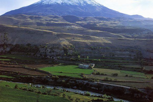 Volcán Misti y campiña arequipeña